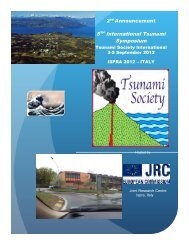 5th TSUNAMI SYMPOSIUM ISPRA-2012 - Tsunami Society ...