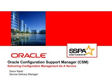 Oracle Configuration Support Manager (CSM) - HrOUG