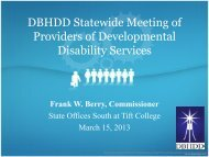 DBHDD Statewide Meeting of Providers of Developmental Disability ...