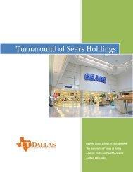 Turnaround of Sears Holdings - Turnaround Management Association