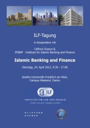 Programm - Institute for Islamic Banking and Finance