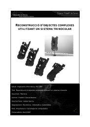 Reconstrucció d'objectes complexes utilitzant un sistema trinocular