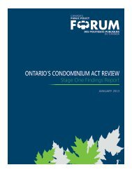 Stage One Findings Report - Public Policy Forum