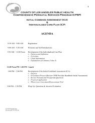 Initial Combined Assessment (ICA) - Department of Public Health