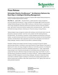 Read more about the press release - Schneider Electric