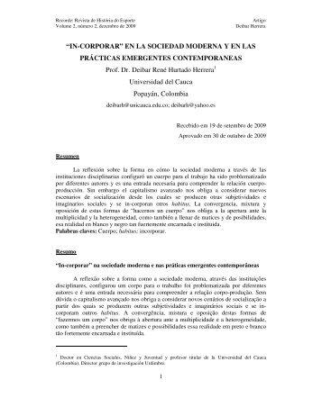 """""""IN-CORPORAR"""" EN LA SOCIEDAD MODERNA Y EN LAS ..."""