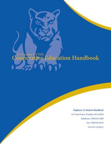 Cooperative Education Handbook - Tri-County Regional Vocational ...