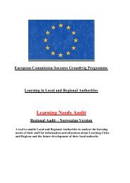 Learning Needs Audit - EUROlocal