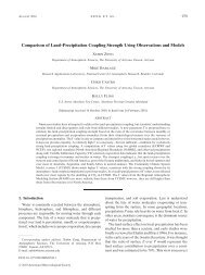 Comparison of Land–Precipitation Coupling Strength Using ...