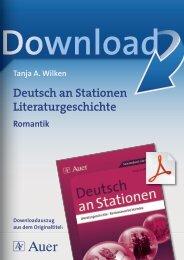 Deutsch an Stationen Literaturgeschichte