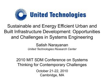 Satish Narayanan - MIT SDM