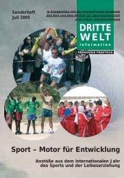 Sport - Motor für Entwicklung