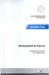 INFORME FINAL Municipalidad de Vitacura