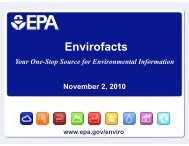 Envirofacts and Enviromapper - ChemicalRight2Know