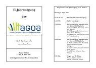 Programm der Jahrestagung 2013 - Orden.de