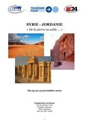 Programme Syrie-Jordanie pour 2010 - Tribune de Genève