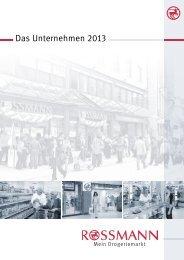 Das Unternehmen 2013 - Rossmann