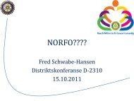 NORFO???? - Oslo Vest Rotary Klubb