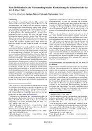 Neue Problemkreise des Versammlungsrechts: Konturierung ... - ZJS