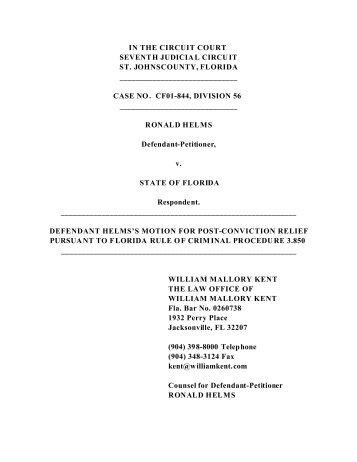 Helms, Ronald - 3.850 Motion - Final.pdf - William Mallory Kent