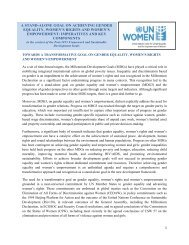 a stand-alone goal on achieving gender equality, women's ... - NGLS