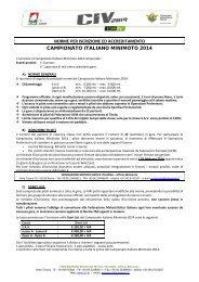 Norme per iscrizione e accreditamento - CIV