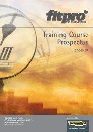 Training Course Prospectus 2006-07 - Fitness Professionals