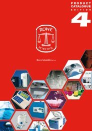 PRODUCT CATALOGUE - Rowe Scientific