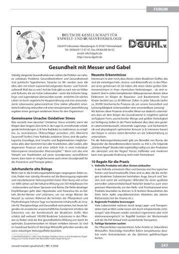Gesundheit mit Messer und Gabel - UMG-Verlag