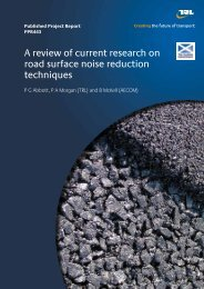 A review of current research on road surface noise reduction ...