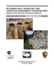 retaining wall inventory and condition assessment program (wip)