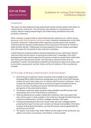 Guidance on writing Child Protection Conference reports