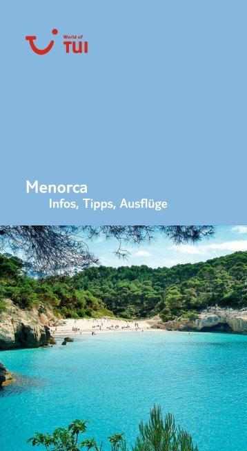 TUI - Infos, Tipps, Ausflüge: Menorca - tui.com - Onlinekatalog