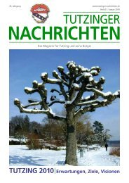 Download Heft 01 / Januar 2010 - Tutzinger Nachrichten