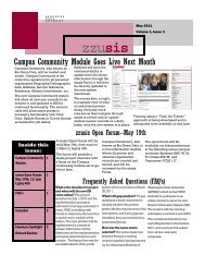 zzusis Newsletter Vol. 4 - Student Information Systems Project