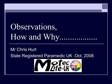 Observations, How and Why.pdf - MOTEC LIFE-UK