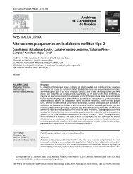 Alteraciones plaquetarias en la diabetes mellitus tipo 2 - Archivos de ...