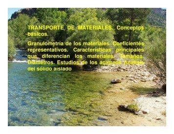 Transporte sedimentos