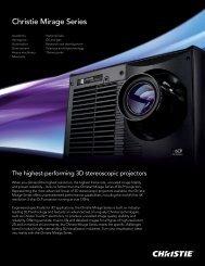Mirage Series Brochure - Christie Digital Systems