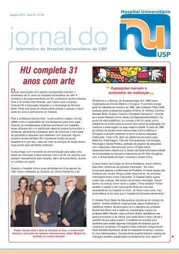HU completa 31 anos com arte - Hospital Universitário – USP