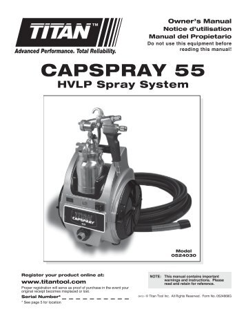 CAPSPrAy 55 - Paint Sprayers, HVLP Sprayers, Powered Rollers