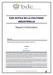 Les outils de la politique industrielle - Base de connaissance AEGE