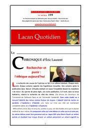 LQ 199 - Lacan Quotidien