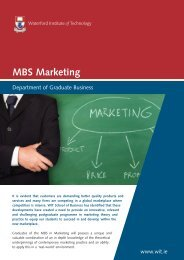 MBS Marketing - Waterford Institute of Technology