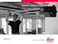 Roteo 20HV/25H/35/35G User Manual Roteo 20HV ... - Distoleica.it