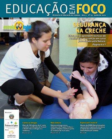 SEGURANÇA NA CRECHE - Prefeitura de Cajamar
