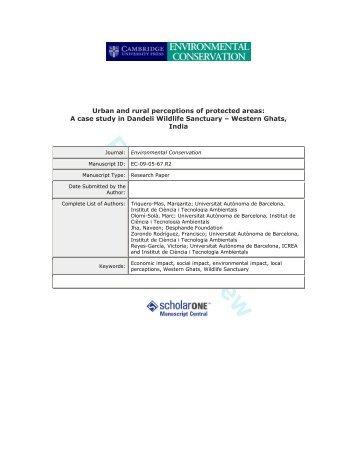 A case study in Dandeli Wildlife Sanctuary - ICTA - Universitat ...