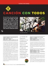 Playing for Change - Revista La Central