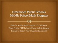 Middle School Mathematics Meeting PowerPoint - Greenwich Public ...