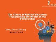 The Future of Medical Education - AAMC's member profile